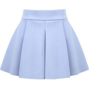 BOGO FREE: Flare sky blue high waisted skirt